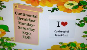Continental Breakfast @ Estates Lounge
